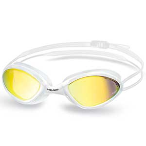 Tiger Race LSR Mirrored Goggles, White/Smoke