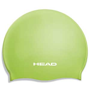 Silicone Flat Junior Swim Cap, Lime