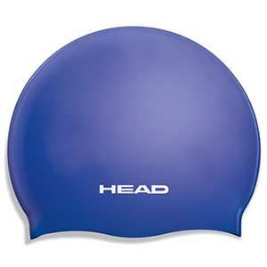 Silicone Flat Junior Swim Cap, Royal