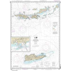 Virgin Islands, Virgin Gorda to St. Thomas and St. Croix, Krause Lagoon Channel, 33 X 46, Waterproof