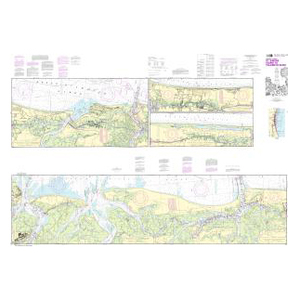 NOAA Nautical Chart 11489 Intracoastal Waterway St. Simons Sound to Tolomato River