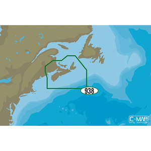 NA-D938 Fundy Nova Scotia Pei and Cape Breton C-MAP 4D Chart microSD/SD Card
