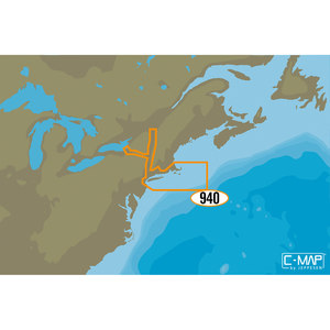 NA-D940 Cape Cod Long Island and Hudson River C-MAP 4D Chart microSD/SD Card