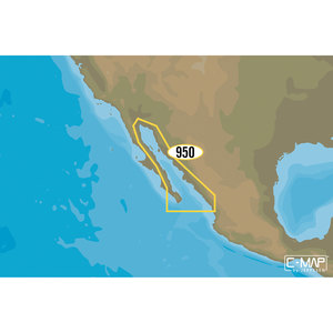 NA-D950 Gulf of California Mexico C-MAP 4D Chart microSD/SD Card