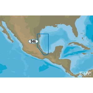 NA-M946 Brownsville to Coatzacoalcos, Mexico C-MAP MAX Chart C-Card