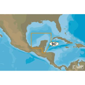 NA-M947 Coatzacoalc, Mexico to Honduras and Guatemala C-MAP MAX Chart C-Card