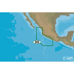 NA-M949 Acapulco, Mexico to Mazatlan, Mexico C-MAP MAX Chart C-Card