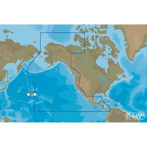 NA-M035 Pacific Coast and Central America C-MAP MAX Chart microSD/SD Card