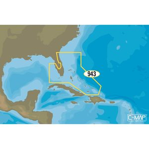 NA-Y943 Florida and the Bahamas Electronic C-MAP MAX-N+ Chart C-Card