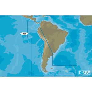 SA-M500 Costa Rica to Chile to Falklands C-MAP MAX Chart microSD/SD Card