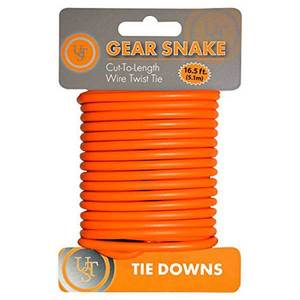 Gear Snake™ 16' Wire Twist Tie, Orange
