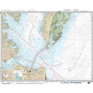 Maptech® NOAA Recreational Waterproof Chart-Chesapeake Bay Entrance, 12221