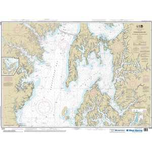 Maptech® NOAA Recreational Waterproof Chart-Chesapeake Bay Eastern Bay and South River; Selby Bay, 12270