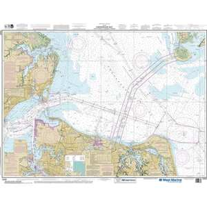 Maptech® NOAA Recreational Waterproof Chart-Chesapeake Bay Cape Charles to Norfolk Harbor, 12222