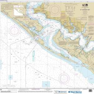 Maptech® NOAA Recreational Waterproof Chart-St Andrew Bay, 11391