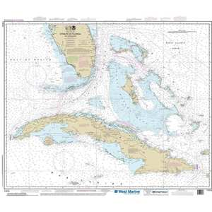 Maptech® NOAA Recreational Waterproof Chart-Straits of Florida and Approaches, 11013