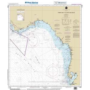 Maptech® NOAA Recreational Waterproof Chart-Tampa Bay to Cape San Blas, 11400