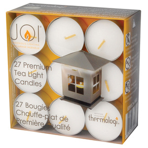 JOI Tea Light Replacement Candles, 27-Pack
