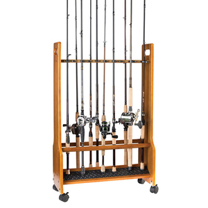 Heavy-Duty Wooden Rolling Floor Rack