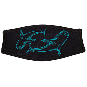 Neoprene Mask Strap Cover, Tiger Shark