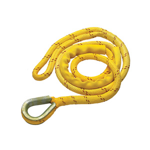 "Yellow Double-Braid Mooring Pendant 3/4"" Diameter x 12' Length"