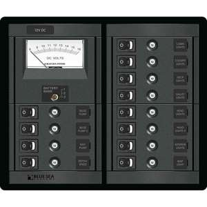 12-Position 12V DC CLB Panel with Voltmeter