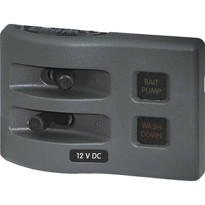WeatherDeck® 12V DC Waterproof Fuse Panel, 2-Position, Gray