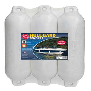 "6 1/2"" X 23"" Hull Gard™ Fender 3-Pack, White"