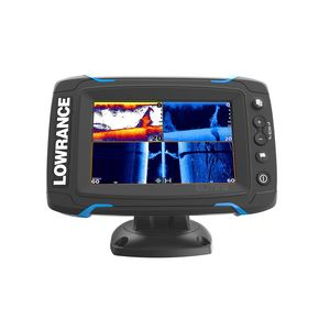 Elite-5 Ti Fishfinder/Chartplotter Combo with DownScan Transducer and Basemap Charts