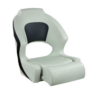 Deluxe Sport Flip-Up Seat, Charcoal And White Upholstery