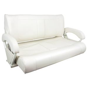 Double Bucket Bench Seat, Off White Upholstery