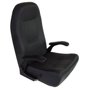 Norwegian Helm Seat with Black Upholstery