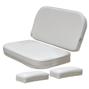 Deck Chair Replacement Cushions and Arm Pads White