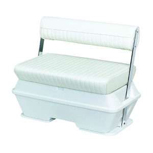 Deluxe Pontoon Series 50qt. Swingback Cooler Seat with Aluminum Arms