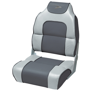 Alumacraft Style High Back Folding Boat Seat, Marble/Charcoal