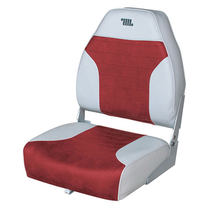 Boat Seat, Gray/Red