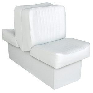 "10"" Base Run-a-Bout Lounge Seat, White"
