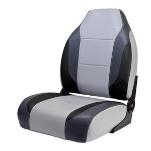 Bass Boat Seat, Gray/Charcoal/Black
