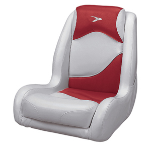 Recaro Bucket Seat, Gray/Red