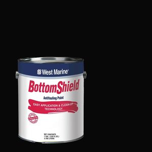 BottomShield Antifouling Paint, Black, Gallon