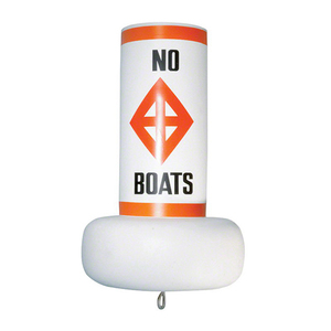 Fast Water Buoy with Label, White