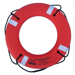 "30"" Dia. Solas Series Hard Shell Life Ring, Orange"