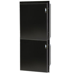 Cruise 195 Classic Fridge/Freezer - AC/DC, Left Swing, Black Door & Panel, 3 Sided Black Flange