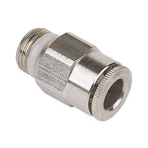 Quick-Connect Straight Fitting Stainless Steel 6mm Outside Diameter x 1/4 BSPP/NPT