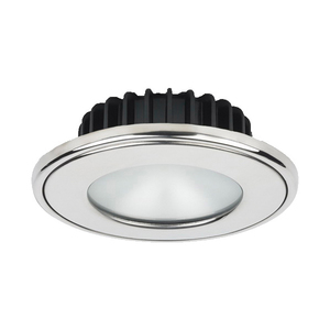 PowerLED Downlight 10 to 30V DC Stainless Steel Trim Ring Cool White Frosted Lens IP65