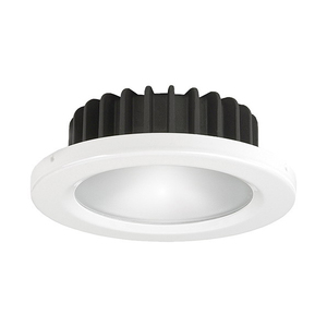 PowerLED Bi-Color Downlight 10 to 30V DC White Trim Ring Warm White/Red LED IP65