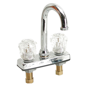 "4"" Bar Faucet with Clear Acrylic Handles"