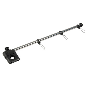 "1/2"" Stainless Steel Rail-Mount Flagstaff with Nylon Bracket"