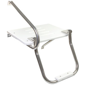Poly Swim Platform with Ladder and Mounting Hardware for Boats with Outboard Motor