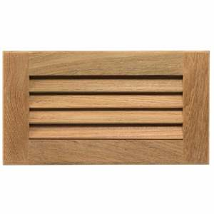 "Teak Louvered Insert, 11 3/16"" x 6 3/8"" x 3/4"""